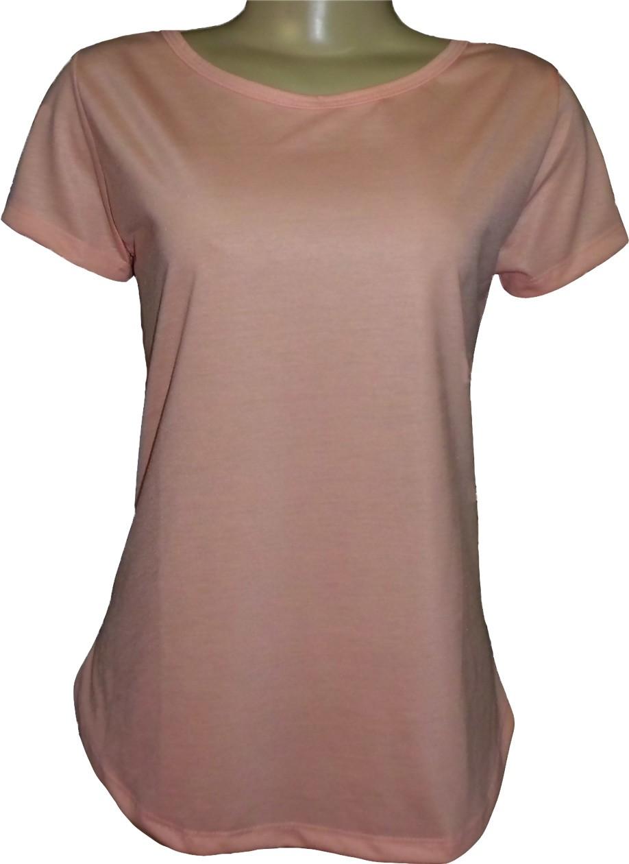 1d278b91db Camiseta Feminina Longa em Malha PP (100% Poliester) para Sublimação ...